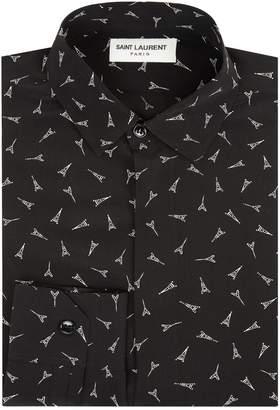 Saint Laurent Silk Eiffel Tower Shirt