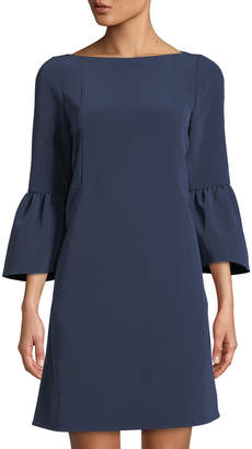 Lafayette 148 New York Marisa Bell-Sleeve Shift Dress