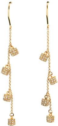 Lee Jones Collection Diamond Fairy Dust Dangle Earrings - Yellow Gold