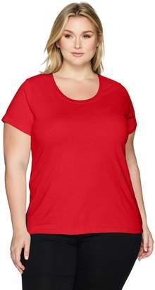 Clementine Apparel Women's Ladies Curvy Plus Size Premium Crew-Neck T-Shirt