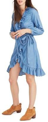 Madewell Denim Ruffle Wrap Dress