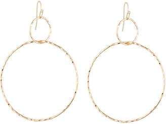 Lydell NYC Interlocking Drop Hoop Earrings