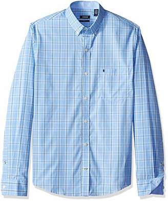 a7db499534b Izod Men s Men s Premium Performance Natural Stretch Check Long Sleeve Shirt  (Big   Tall and