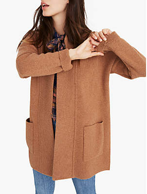 Hester Merino Wool Rich Sweater Coat, Heather Caramel