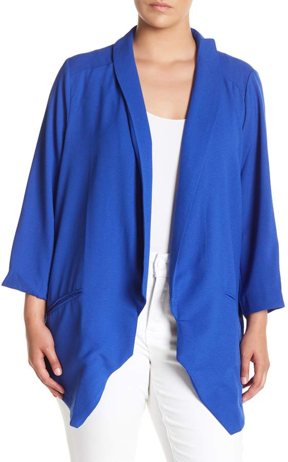 Soft Fitted Blazer (Plus Size)