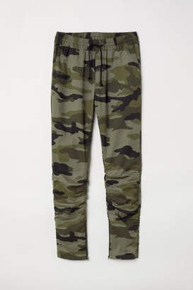 H&M Cotton Twill Joggers - Green