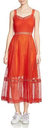 Maje Rita Lace Midi Dress $480 thestylecure.com