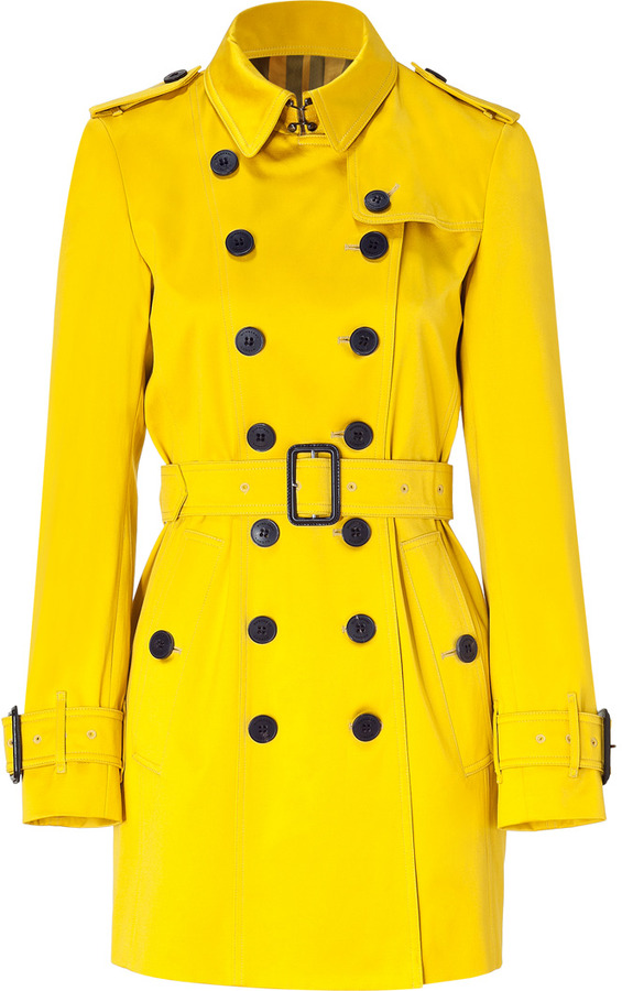 Burberry London Gorse Yellow Westland Trench Coat
