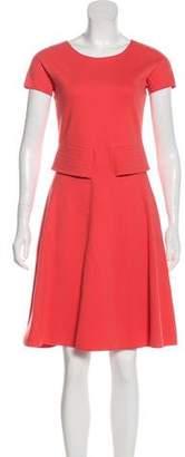 Armani Collezioni Knee-Length Flounce Dress