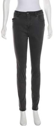 Burberry Mid-Rise Skinny Jeans Grey Mid-Rise Skinny Jeans