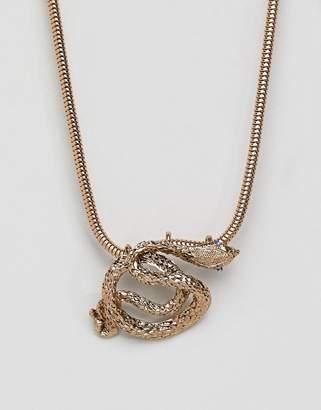 Steve Madden Gold Snake Necklace