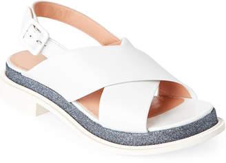 Robert Clergerie Caliba Crisscross Slingback Sandals