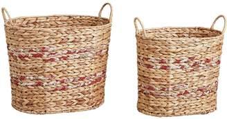 Very Oval Water Hyacinth Storage Baskets - Set of 2