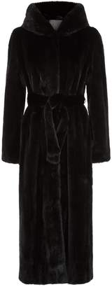 Lilly E Violetta Fur Hooded Maxi Coat