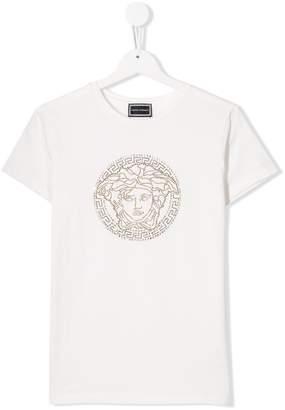 Versace TEEN Medusa appliqué T-shirt