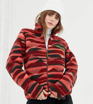 Columbia Mountain Side Heavyweight Full Zip Fleece in Red