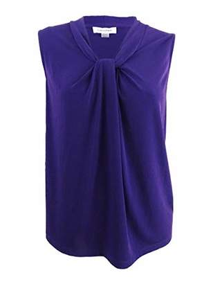 Calvin Klein Women's Plus Size Solid Knot Neck Cami