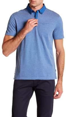 Calvin Klein Short Sleeve Allover Feeder Polo