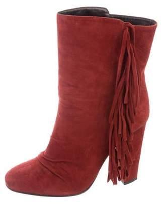 Giuseppe Zanotti Fringe Suede Ankle Boots Fringe Suede Ankle Boots