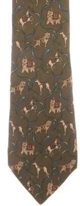Salvatore Ferragamo Abstract Print Silk Tie