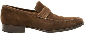 Non Signé / Unsigned Non Signe / Unsigned Brown Suede Flats