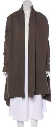 Rick Owens Asymmetrical Cropped Casual Jacket