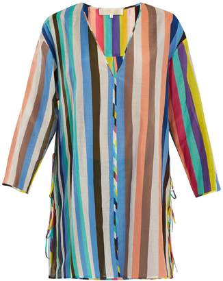 Diane von Furstenberg V-neck striped cotton-blend dress