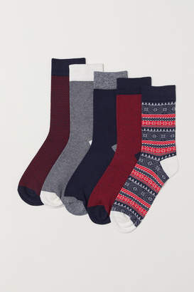 H&M 5-pack Socks - Red