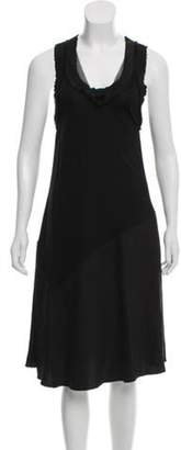 Bottega Veneta Sleeveless Midi Dress Black Sleeveless Midi Dress