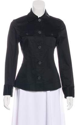 Magaschoni Collared Button-Up Top