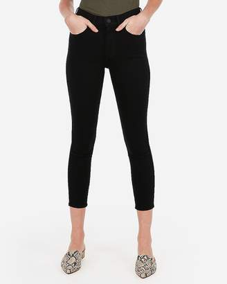 Express High Waisted Black Cropped Jean Leggings