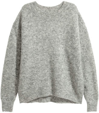 H&M Mohair-blend Sweater - Gray