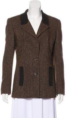 Valentino Wool-Blend Tweed Blazer