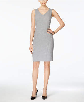 Kasper V-Neck Sheath Dress $79 thestylecure.com