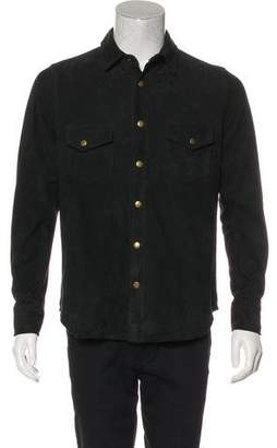 Billy Reid Suede Collared Shirt w/ Tags