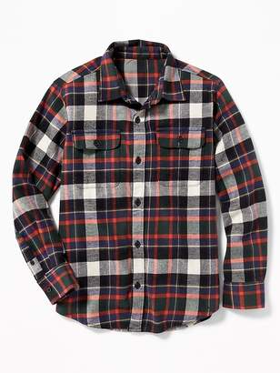 Old Navy Patterned Built-In Flex Flannel Shirt for Boys