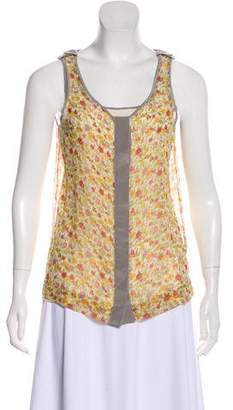 Rag & Bone Silk Printed Sleeveless Top