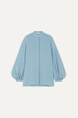 The Row Vara Silk Crepe De Chine Blouse - Blue