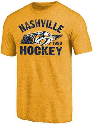 Majestic Men Nashville Predators Tri Blend Team Logo T-Shirt