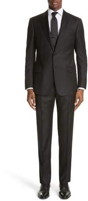 Emporio Armani Trim Fit Solid Wool Suit