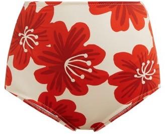Dodo Bar Or Ceccile Floral Print Bikini Briefs - Womens - Cream Multi