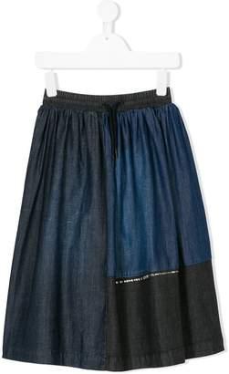 Diesel pleated denim skirt