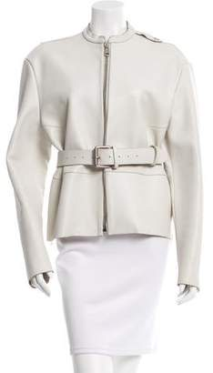 Acne Studios Belted Leather Jacket