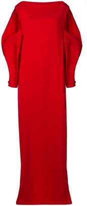 Chalayan cut-out shoulder gown