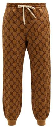 Gucci Gg Jacquard Track Pants - Womens - Beige Multi