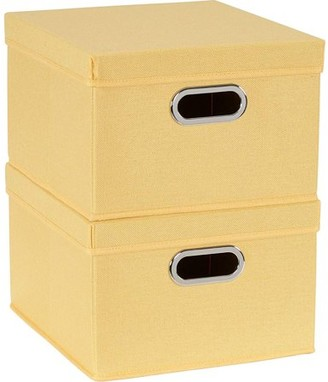 Household Essentials Collapsible Linen Storage Boxes, 2pk, Carnation