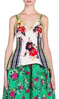 Marni Women's Floral Stretch Tank Top
