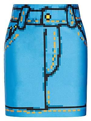 Moschino Women's x Sims Pixel Capsule Lycra Skirt