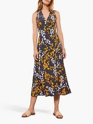 67378abe65b7 Mint Velvet Olivia Print V-Neck Midi Dress, Multi