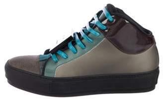Acne Studios Cleo Cap-Toe High-Top Sneakers multicolor Cleo Cap-Toe High-Top Sneakers